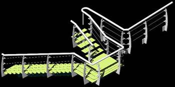 imagen Escalera acero en 3d, en Modelos de escaleras 3d - Escaleras