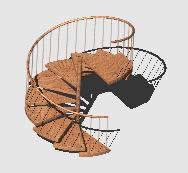 imagen Escalera caracol 3d, en Modelos de escaleras 3d - Escaleras