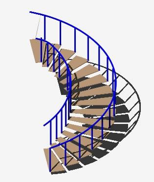 imagen Escalera circular 3d, en Modelos de escaleras 3d - Escaleras