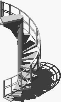 imagen Escalera de caracol 3d, en Modelos de escaleras 3d - Escaleras