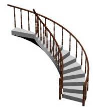 imagen Escalera de caracol en 3d, en Modelos de escaleras 3d - Escaleras