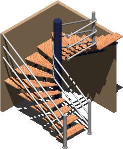imagen Escalera herreria, en Modelos de escaleras 3d - Escaleras