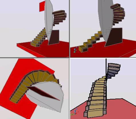 imagen Escalera interna 3d, en Modelos de escaleras 3d - Escaleras