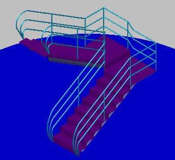 imagen Escalera metalica, en Modelos de escaleras 3d - Escaleras