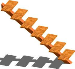 imagen Escalera metálica para medio nivel, en Modelos de escaleras 3d - Escaleras