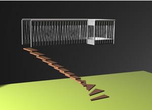 imagen Escalera y barandilla, en Barandas - Escaleras