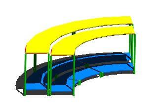 imagen Escenario 3d, en Equipamiento de parques paseos y plazas - Equipamiento urbano