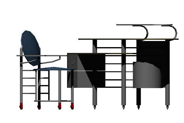 Planos de escritorio 3d en escritorios muebles for Planos de escritorios