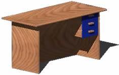 imagen Escritorio con cajonera 3d, en Escritorios - Muebles equipamiento