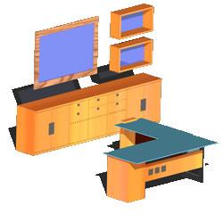 imagen Escritorio con modulos, en Escritorios - Muebles equipamiento