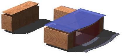imagen Escritorio contemporaneo 3d, en Escritorios - Muebles equipamiento