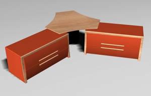 imagen Escritorio doble 3d, en Escritorios - Muebles equipamiento