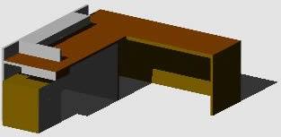 imagen Escritorio, en Escritorios - Muebles equipamiento