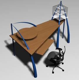 imagen Escritorio jungla, en Escritorios - Muebles equipamiento