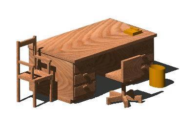 imagen Escritorio oficina, en Escritorios - Muebles equipamiento