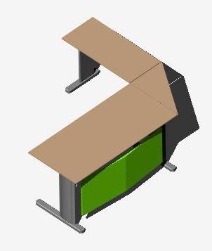 imagen Escritorio secretarial, en Escritorios - Muebles equipamiento