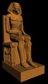 imagen Escultura egipcia, en Monumentos y esculturas - Historia