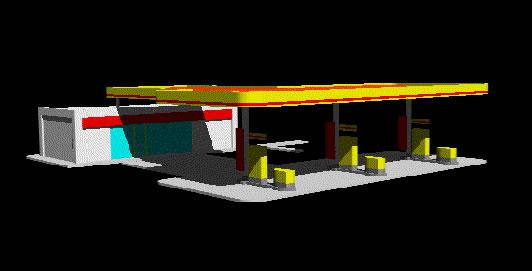 imagen Estacion de servicio. gasolinera shell; nicaragua., en Estaciones de servicio - Proyectos