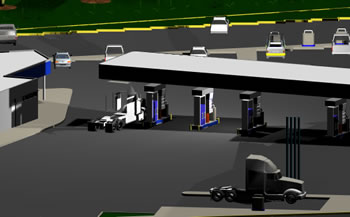 imagen Estacion de servivcio 3d, en Estaciones de servicio - Proyectos