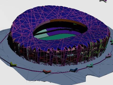 imagen Estadio olimpico nido de pájaro - beijing, en Obras famosas - Proyectos