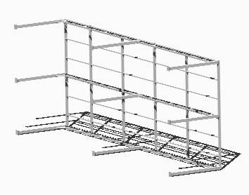 imagen Estructura bodega 3d, en Galpones - Proyectos