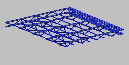 imagen Estructuras metalicas 3d, en Cielorrasos suspendidos - Detalles constructivos