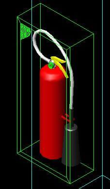 imagen Extintor co2 3d, en Instalaciones contra incendios - Instalaciones