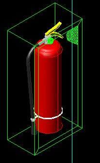 imagen Extintor pqs 3d, en Instalaciones contra incendios - Instalaciones