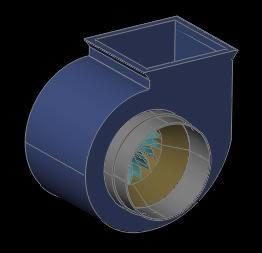 imagen Extractor de aire tipo caracol 3d, en Ventilación - Instalaciones