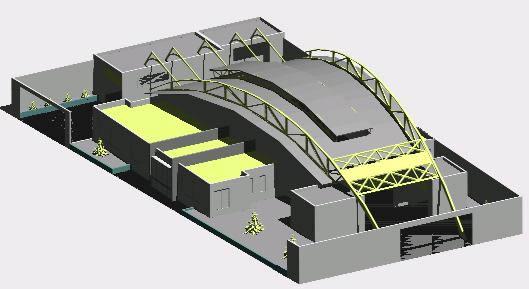 imagen Fabrica de conservas 3d, en Galpones - Proyectos