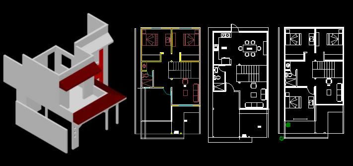 Planos de fachada 3d casa 2 plantas en vivienda for Fachada casa 2 plantas