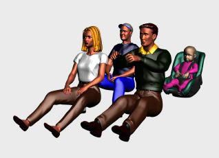 imagen Familia 3d, en 3d - Personas