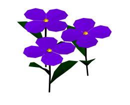 imagen Flores 3d, en Arbustos en 3d - Arboles y plantas