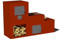 Planos de fogon a le a en 3d en cocinas muebles for Planos de cocina economica a lena