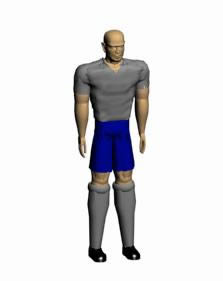 imagen Futbolista 3d, en Personas - Discapacitados