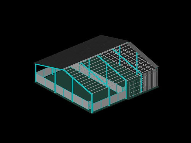 imagen Galpón con estructura metálica, en Estructuras de acero - Detalles constructivos