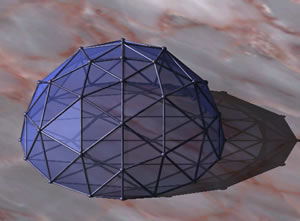 imagen Geodesica de octaedro frecuencia 4, en Cúpulas geodésicas - Proyectos