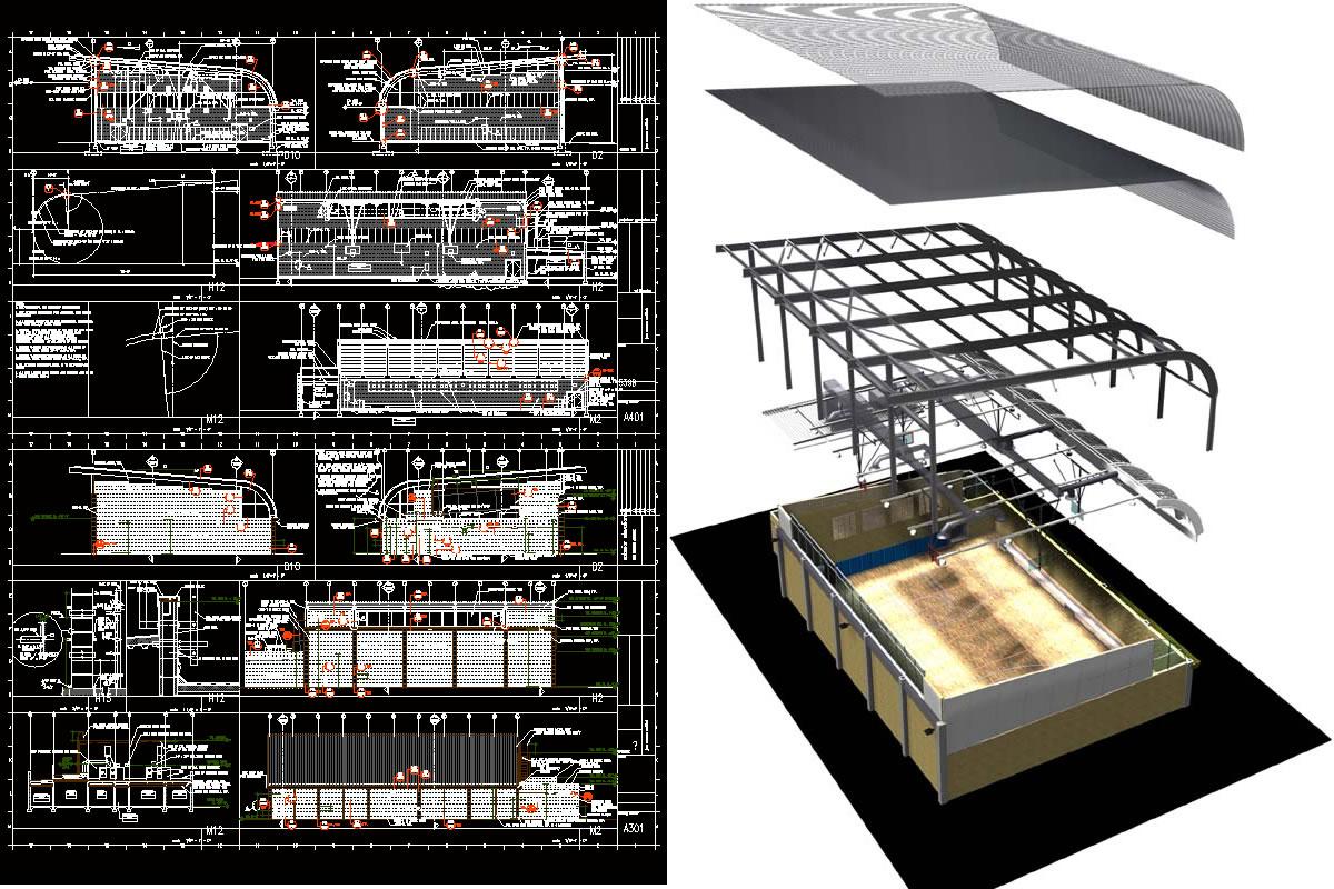 Proyectos Gimnasios Archives P Gina 3 De 3 Planos De Casas  # Muebles Gimnasio Dwg
