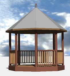 imagen Glorieta 3d, en Equipamiento de parques paseos y plazas - Equipamiento urbano