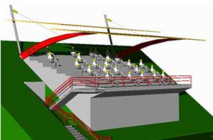 imagen Gradas techadas, en Proyectos estadios - Deportes y recreación