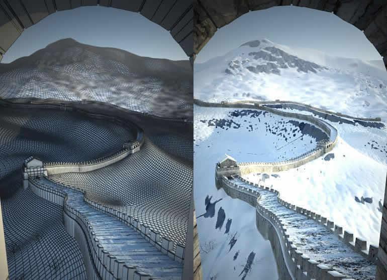 imagen Gran muralla china, en Obras famosas - Proyectos