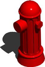 imagen Grifo contra incendios 3d, en Instalaciones contra incendios - Infraestructura