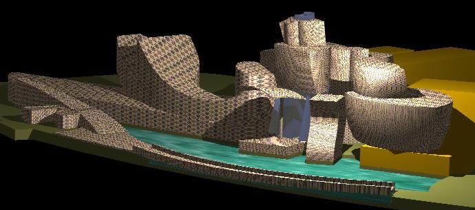 imagen Guggenheim 3d, en Obras famosas - Proyectos