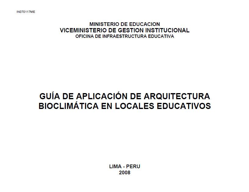 imagen Guía de diseño bioclimático en perú, en Peru - Normas de edificación
