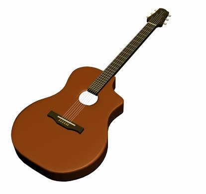 imagen Guitarra 3d, en Instrumentos musicales - Muebles equipamiento