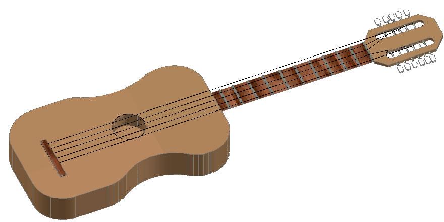 imagen Guitarra en 3d, en 3d - Personas