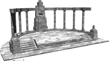 imagen Hemiciclo, en Monumentos y esculturas - Historia
