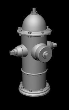 imagen Hidrante 3d, en Instalaciones contra incendios - Infraestructura
