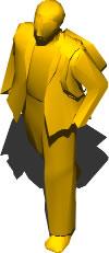 imagen Hombre caminando 3d, en 3d - Personas