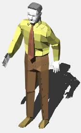 imagen Hombre caminando, en 3d - Personas